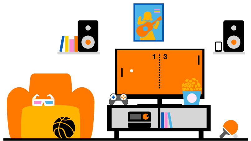 internet tv orange belgi. Black Bedroom Furniture Sets. Home Design Ideas